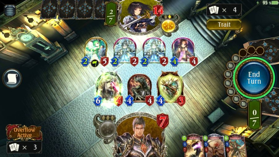 A battle in one of the best free PC games, Shadowverse
