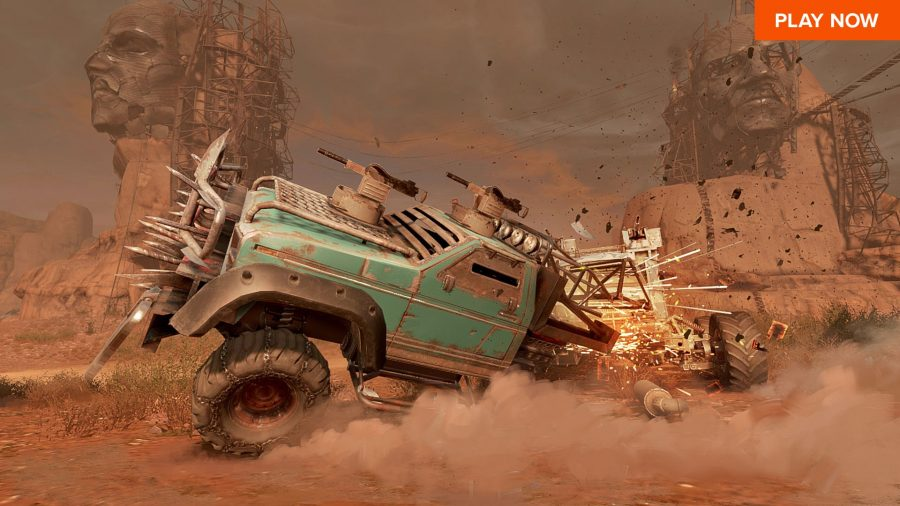 A clash in Crossout, one of the best free PC games