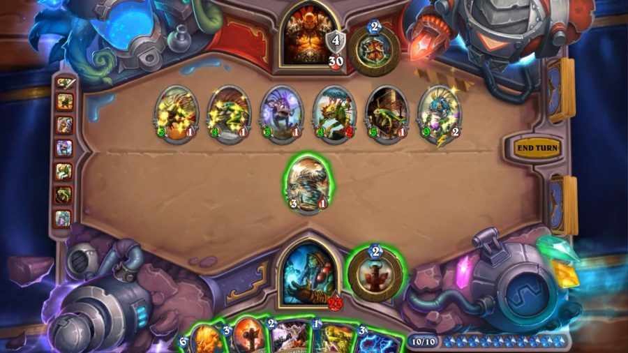 A game of Hearthstone, one of the best free PC games, has descended into a Murloc invasion. Luckily the player has just the spell to deal with the encroaching horde.