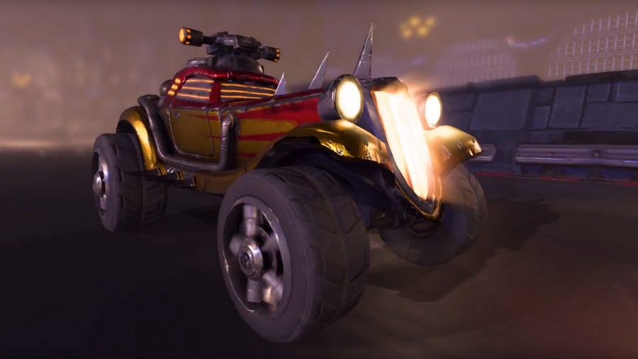 An aggresive looking car in Heavy Metal Machines, one of the best free games on PC