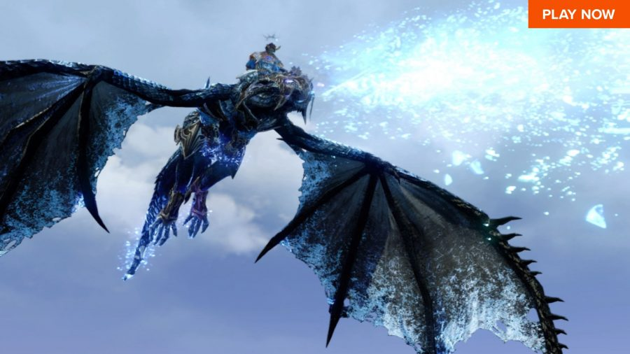 An ice dragon in one of the best free PC games, Archeage