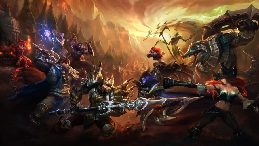 Champions clash in artwork from one of the best Free PC games, League of Legends