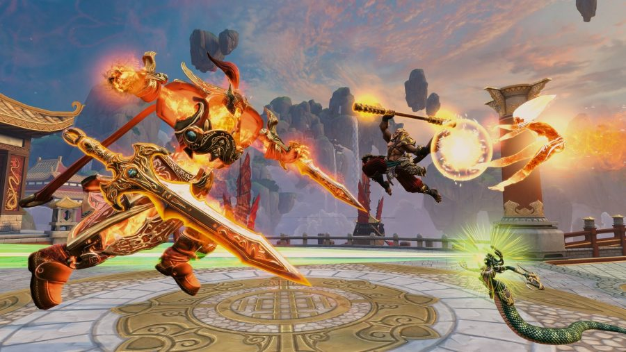 Gods face off in a battleground in Smite, one of the best free PC games