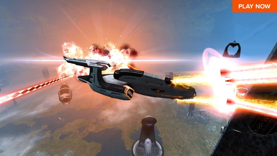Star Trek Online, one of the best free PC games, and that's mostly because you can destroy the Enterprise with a Klingon Bird of Prey