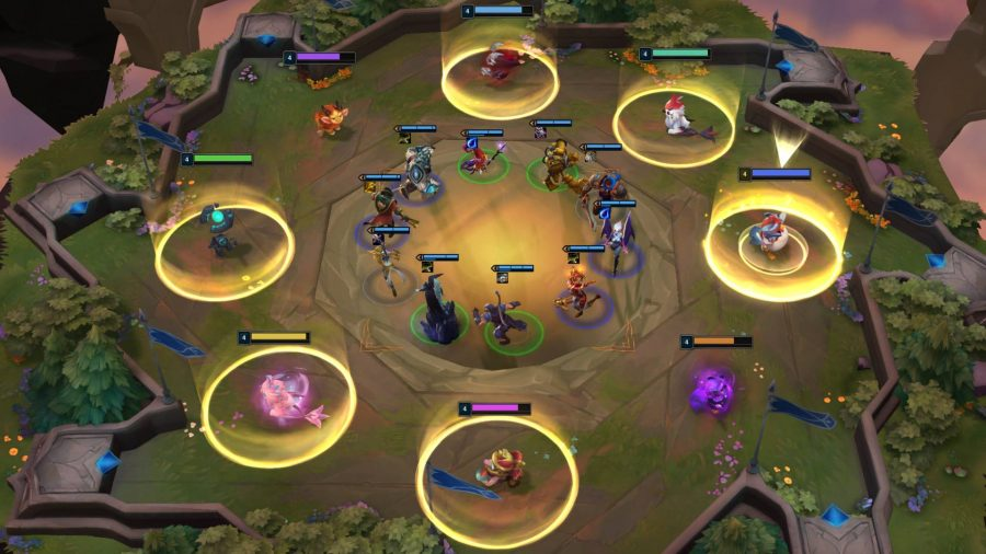 Teamfight Tactics is one of the best free PC games, and is an auto-battler in the League of Legends universe. The screenshot shows the carousel phase where players draft their champions.