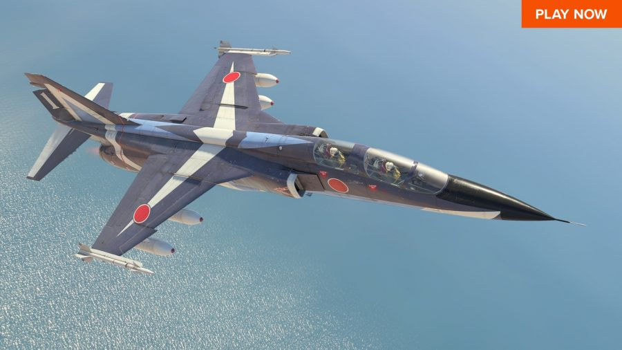 War Thunder, one of the best free PC games, has you fly around in war jets, shooting down enemy aircraft.